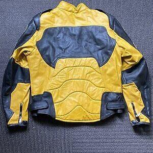 Ferrari Motorcycle Yellow And Black Leather Jacket