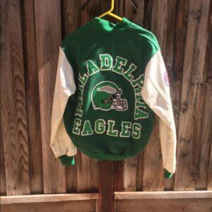 Green Letterman Philadelphia Eagles Varsity Jacket