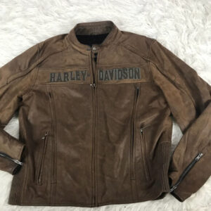 Harley Davidson Roadway Brown Leather Jacket