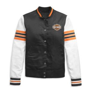Harley Davidson Sleeve Stripe Bomber Jacket