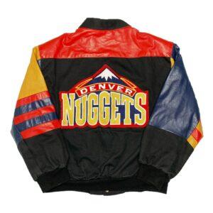 NBA Denver Nuggets Jeff Hamilton Leather Jacket