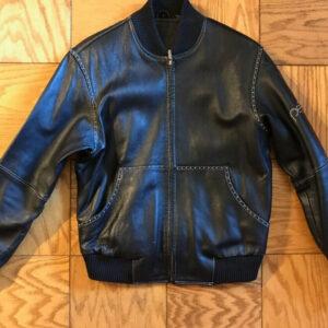 Pelle Pelle Studded Black Vintage Leather Jacket