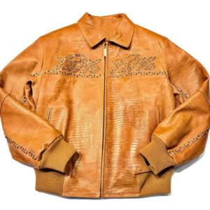 Pelle Pelle Studded Leather Light Brown Jacket