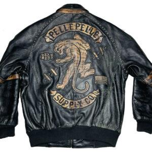 Pelle Pelle Studded Tiger Leather Jacket