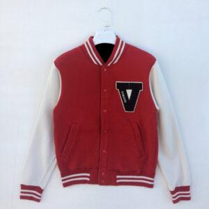 Red Vision Street Wear Varsity Jacket