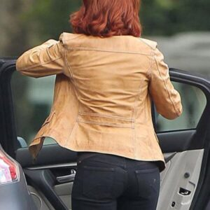 The Avengers Scarlett Johansson Leather Jacket