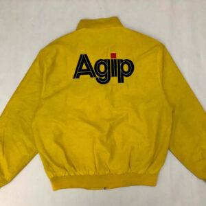 Yellow Ferrari Agip Vintage Racing Jacket