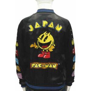 Arcade Game Japan Pacman Satin Jacket