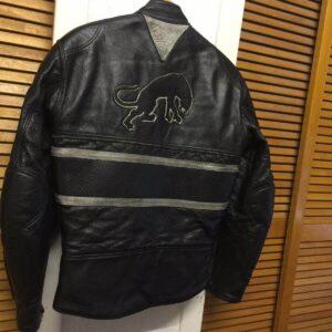 Black Furygan Motorcycle Leather Jacket