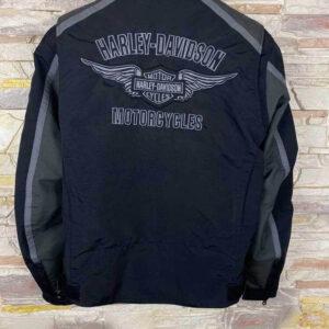 Black Harley Davidson Motorcycle Racing Jacket