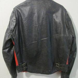 Black Kawasaki Biker Leather Jacket