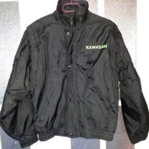 Black Kawasaki Detachable Sleeves Motorcycle Jacket