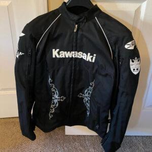 Black Kawasaki Motorcycle Leather Jacket