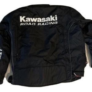Black Kawasaki Motorcycle Racing Textile Jacket