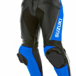 Black Suzuki Motorcycle Leather Pant