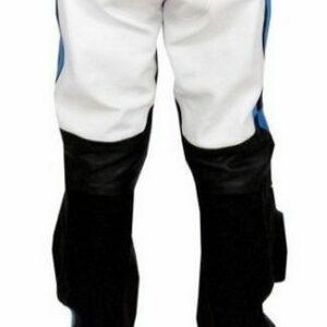 Black White Suzuki Motorcycle Leather Pant