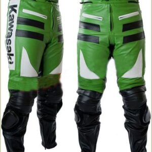 Green Kawasaki Motorcycle Racing Leather Pant