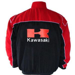 Red and Black Kawasaki Motorcycle Jacket