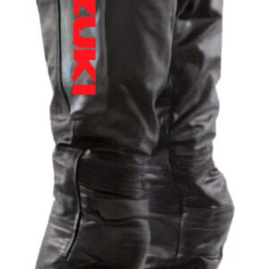 Suzuki Motorcycle Racing Black Leather Pant