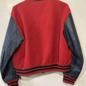 Vintage Indian Red And Black Varsity Jacket