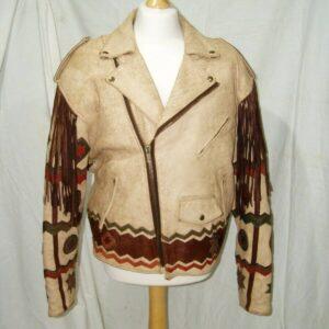 Vintage Ira Hoss Volcano Indian Leather Biker Jacket