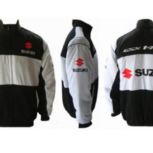 Black Gray Suzuki GSXR 1400 Motorcycle Textile Jacket
