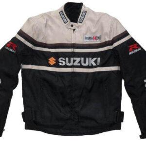 Black Gray Suzuki GSXR Motorcycle Textile Jacket