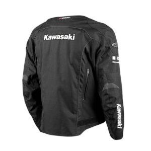 Black Kawasaki Motorcycle Joe Rocket Textile Jacket