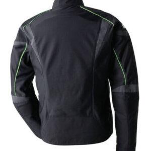 Black Kawasaki Motorcycle Racing Leather Jacket