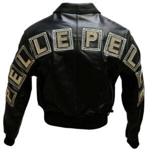 Black Pelle Pelle Studded Leather Jacket