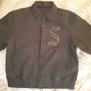 Black Supreme Pebbled Leather Jacket