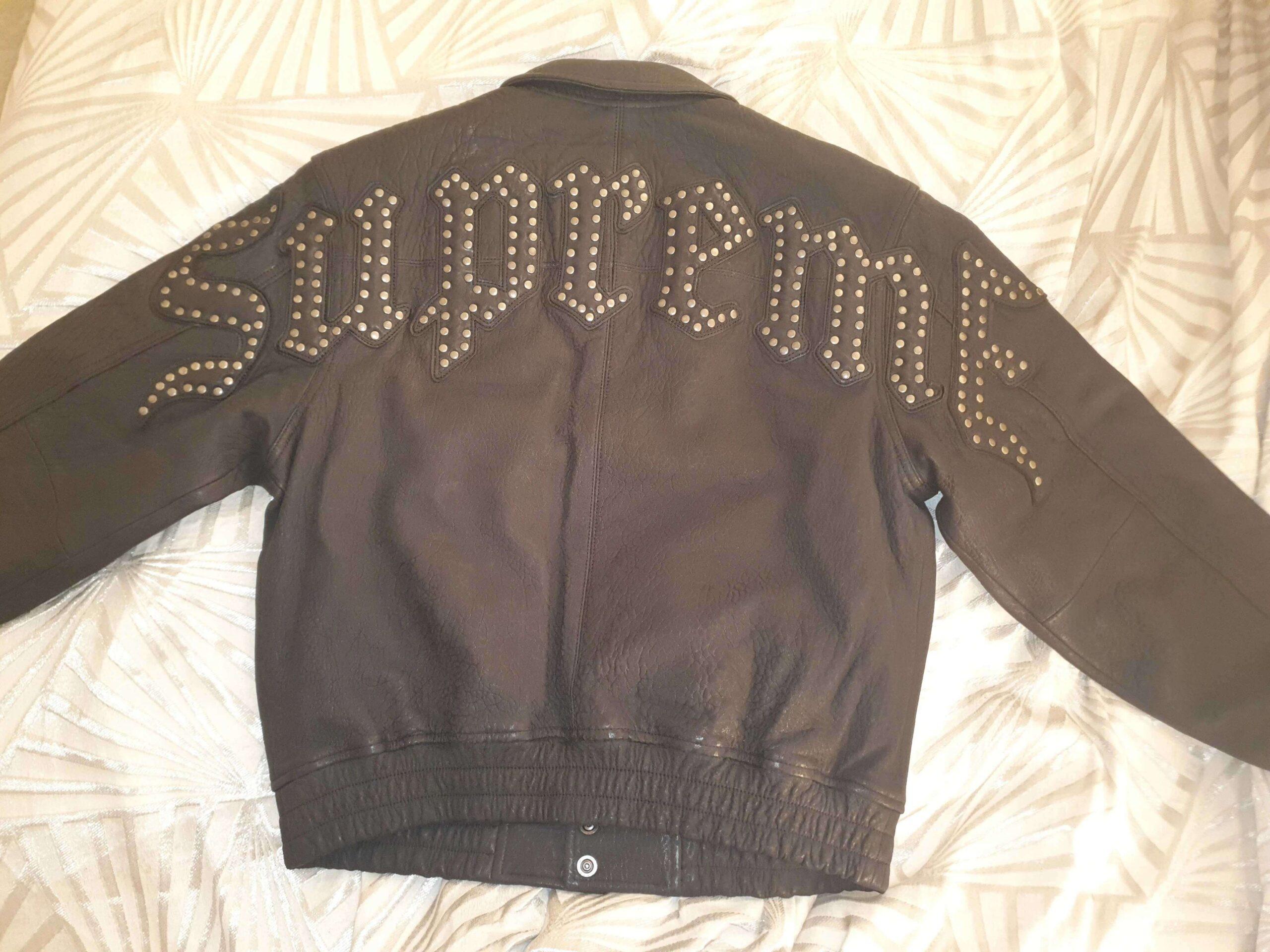 Black Supreme Pebbled Leather JacketBlack Supreme Pebbled Leather Jacket