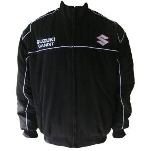 Black Suzuki Bandit Motorcycle Racing Textile Jacket