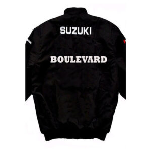 Black Suzuki Boulevard Motorcycle Textile Jacket