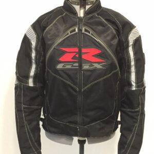 Black Suzuki GSXR Motorcycle Racing Textile Jacket