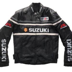 Black Suzuki GSXR Motorcycle Textile Jacket