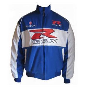 Blue White Suzuki GSXR Motorcycle Racing Textile Jacket