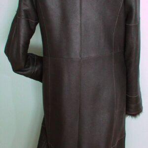 Brown Danier Shearling Fur Long Coat