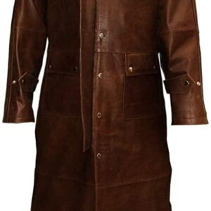 Brown Steampunk Duster Riding Trench Long Coat