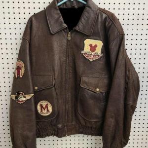 Brown Vintage Disney Mickey Mouse Explorer Jacket