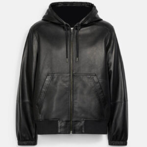 Coach Trainer Hooded Leather Jacket