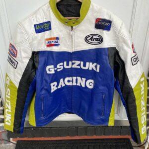 G-Suzuki Motorcycle Racing Leather Jacket