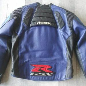 Icon Suzuki GSXR Motorcycle Racing Leather Jacket