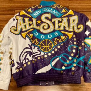 Jeff Hamilton Charlotte Hornets Studded Leather Jacket