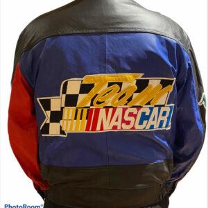 Nascar G III Racing Black Leather Jacket