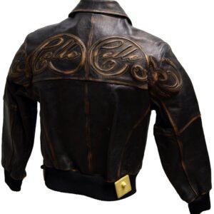 Pelle Pelle Brown Bomber Leather Jacket
