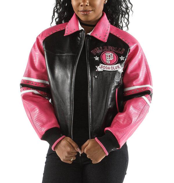 Pink Soda Club Pelle Pelle 78 Stud Leather Jacket