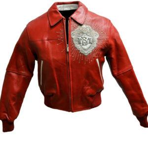 Red Pelle Pelle 1978 Studded Leather Jacket