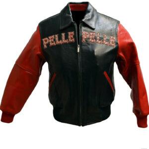 Red Pelle Pelle Pride Studded Leather Jacket