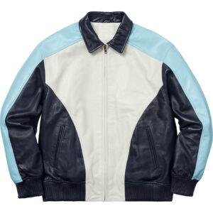Supreme Arc Logo Studded Leather Jacket